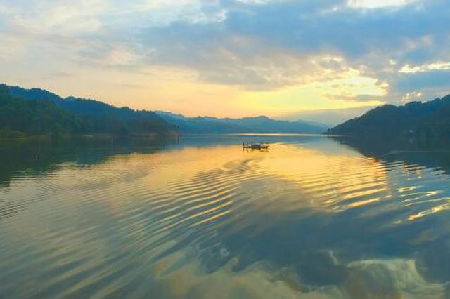 思南白鹭湖国家湿地公园。 刘汉滨 摄