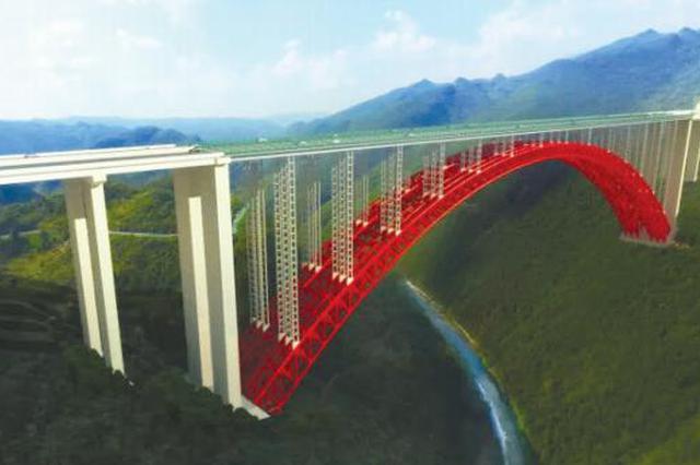 仁遵高速团结特大桥主体结构施工
