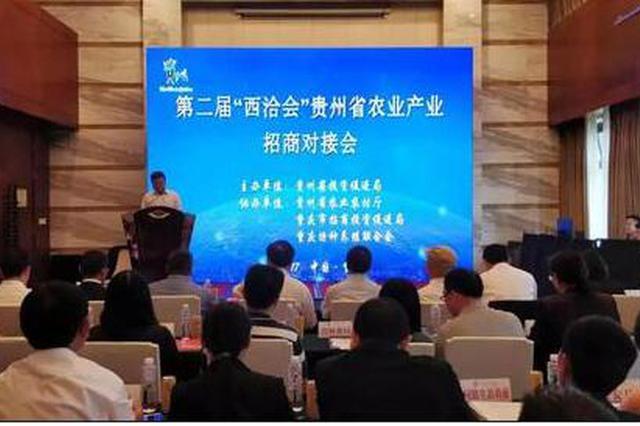 贵州省农业产业招商对接会现场