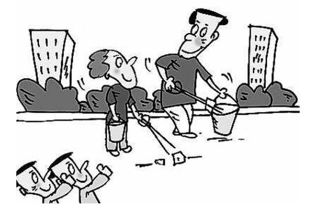 世纪城社区 亲子活动 上街捡垃圾