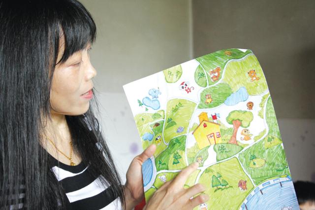 老师用心良苦,手绘家访地图