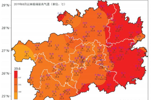 这个8月 比常年温度高1℃