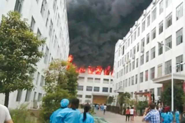 岑巩一打火机厂发生火灾 致1死3伤