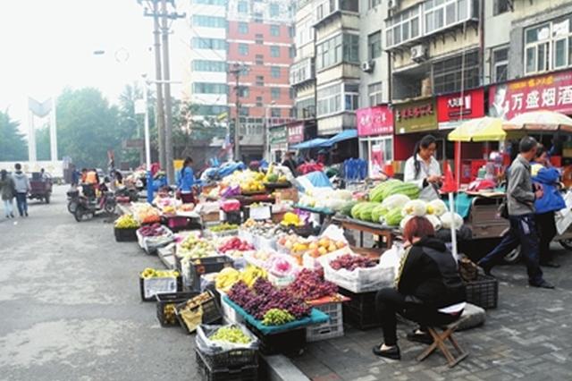 中天社区:整治游动摊点占道经营