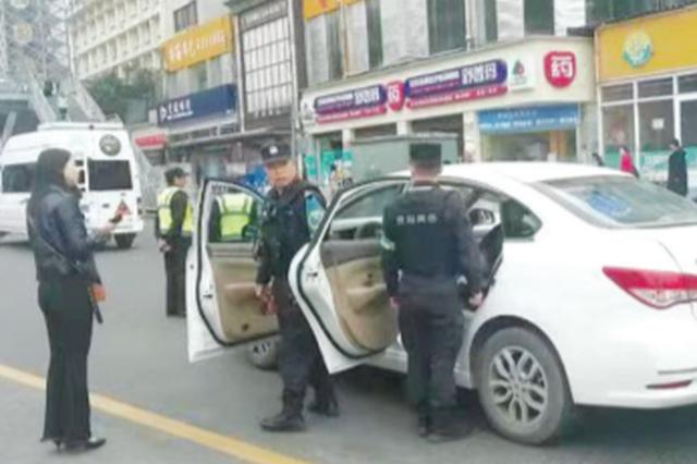 滴滴司机突发疾病 车子失控一路后溜 女乘客吓得赶紧报警