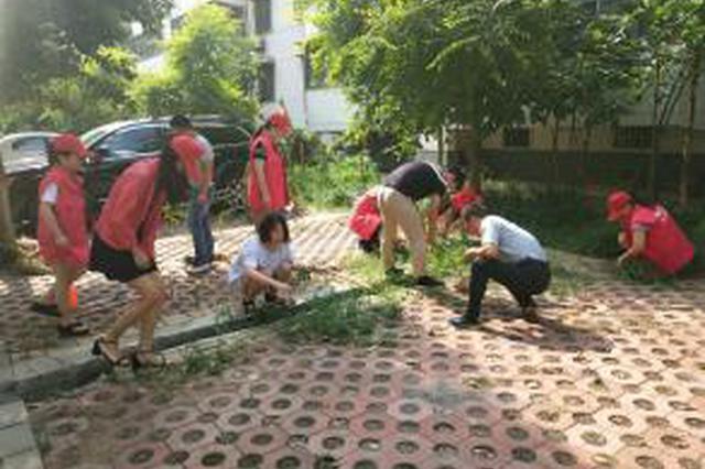 延中社区 清洗地面油污油渍