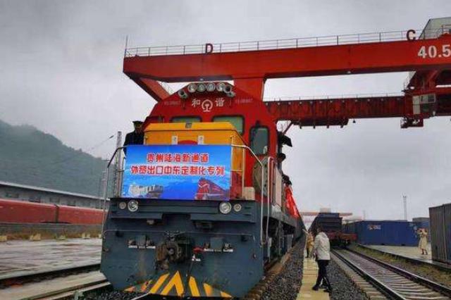 贵州陆海新通道首列外贸出口定制化专列成功首发