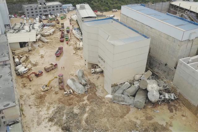 贵阳一商品混凝土公司厂区内发生滑坡 5人获救7人被困