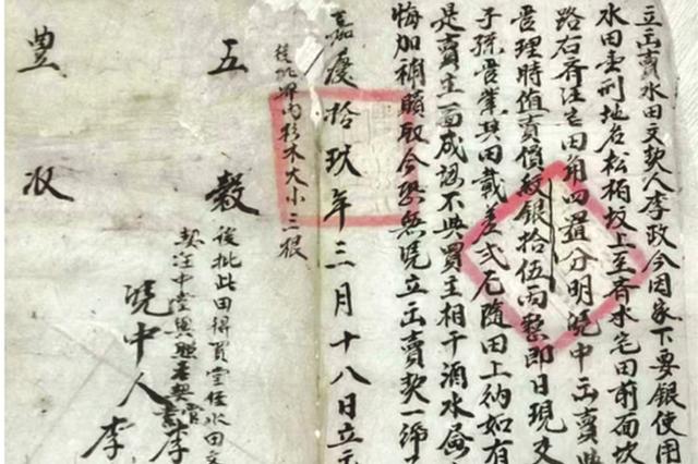 内容详尽还有祝语 200年前的田契长这样!