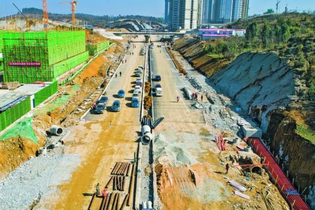 贵安花溪大学城创业路主体工程完工