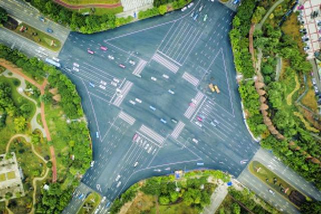 贵阳观山湖区绿色未来环岛拆除改造完毕,路面恢复通车