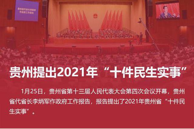 """贵州提出2021年""""十件民生实事"""""""