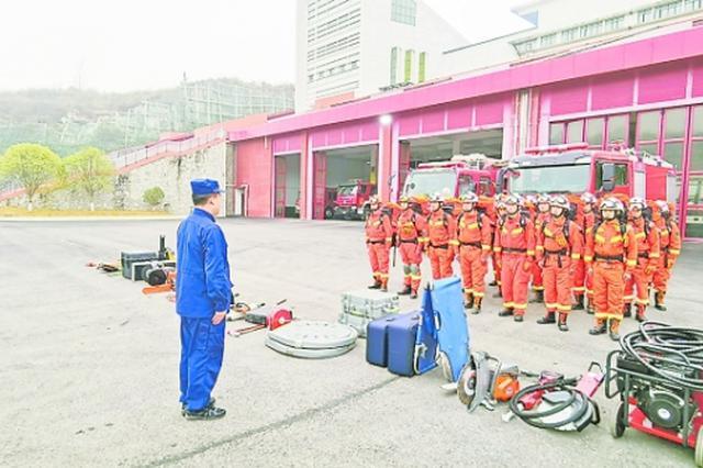 贵安消防开展地震救援实战拉动演练