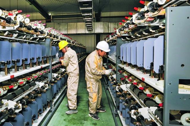 恒力(贵阳)产业园安装首批生产设备
