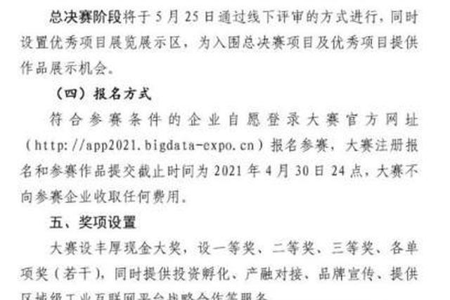 2021数博会工业APP融合创新大赛启动报名