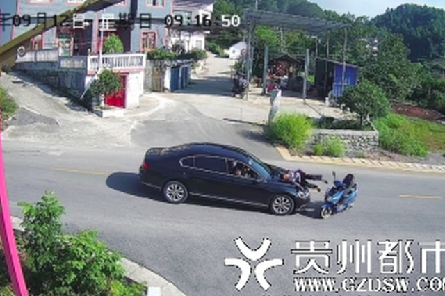 路口不礼让 骑车老人受伤
