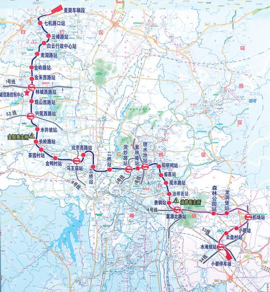 贵阳地铁2号线示意图