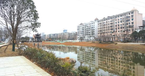 2019年2月25日七彩湖美景。