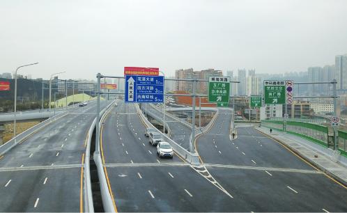 人民大道南段连接中环路与花溪大道立交桥桥面