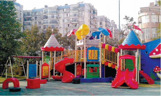贵阳市一幼儿园游乐设施。