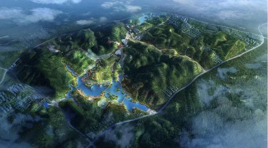 黔南州绿博园效果鸟瞰图