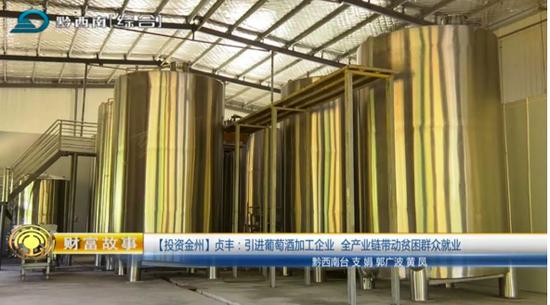 贞丰:引进葡萄酒加工企业推动产业链发展