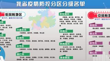 贵州疫情防控分区分级名单进行调整