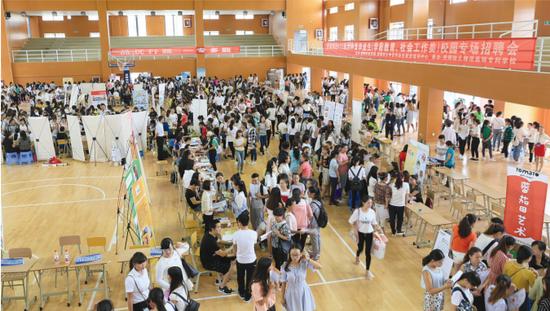 2017年校园招聘会在清镇校区举行。
