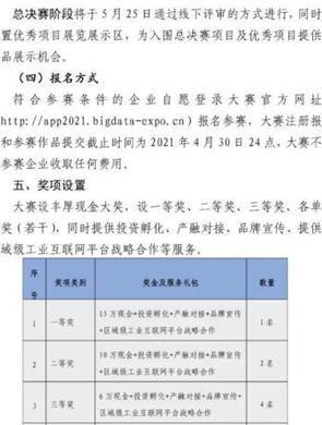 2021数博会工业APP融合创新大赛报名
