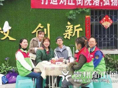 社区开展睦邻文化活动。