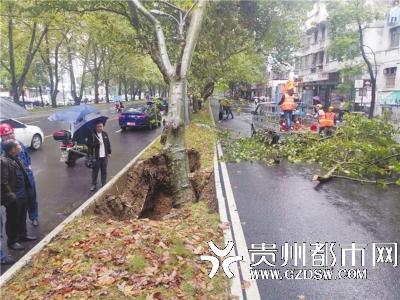 贵阳宝山南路一区域发生塌陷