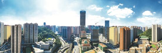 花果园项目改造后,现代化立体交通通达四方(摄于2019年9月26日)