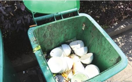 垃圾桶装碗,其实是丢弃了。