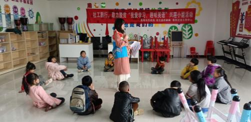 社区小课堂给小朋友们别样的假期