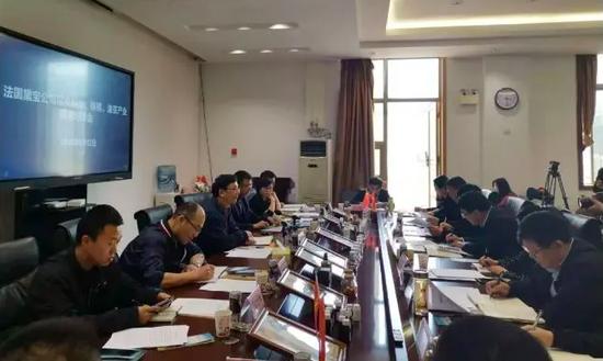 2019年4月12日 省投资促进局与法国黛宝公司举行投资刺梨、核桃、油茶产业精准对接会(资料图)