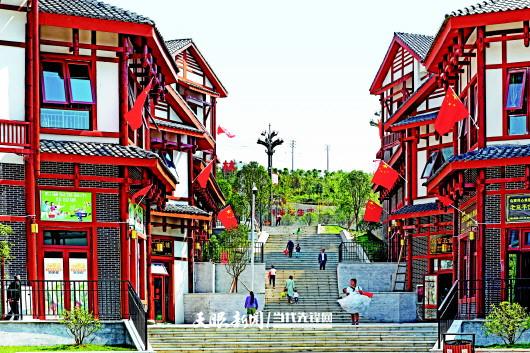 黔西县锦绣花都易地扶贫搬迁安置小区。罗兴祥 摄(贵景网发)