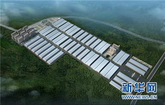 贵州威宁江楠现代农业物流园项目效果图。新华网发
