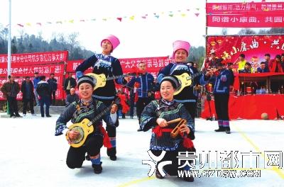 民俗趣味活动庆新年。