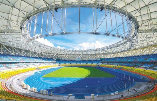 三亚国际体育产业园体育场完工