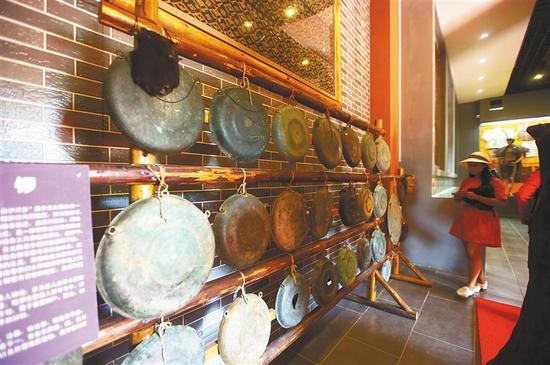 乐东佛罗镇的白沙河谷文化园。 海南日报记者 张茂 摄