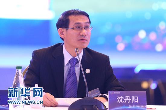 海南省副省长沈丹阳在论坛上发言