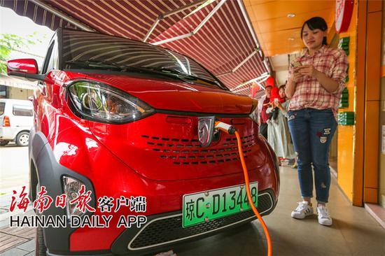 新能源汽车受到海南省部分村镇地