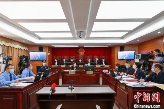 图为庭审现场。海口海事法院 供图