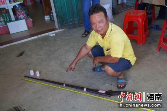图为海南警方收缴的非法枪支。海南省公安厅 供图