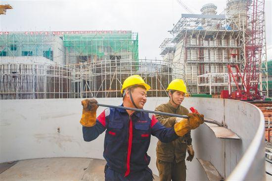 大唐万宁燃气发电厂项目建设进入1号机组安装阶段