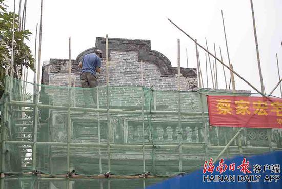 国家级文物保护单位、蔡家宅主体建筑之一的蔡家宏宅维修工程近日启动。