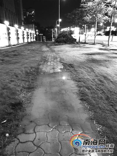 坑洼的人行道