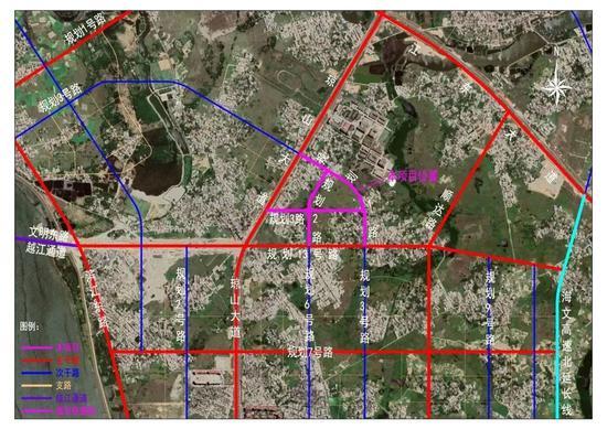 海口江东新区椰青园安置社区配套路网项目开工建设