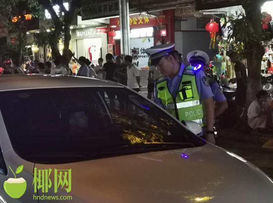 重拳出击!临高警方一夜查处各类交通违法行为248起
