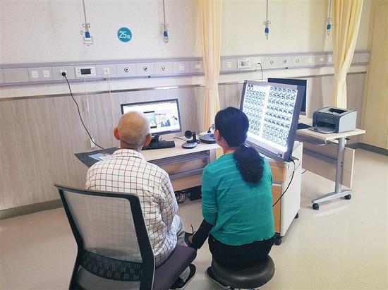 在博鳌超级医院,患者可以接受国内顶级专家的远程会诊。 博鳌超级医院供图